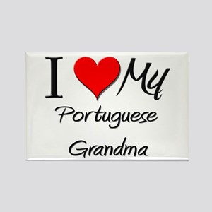 I Heart My Portuguese Grandma Rectangle Magnet